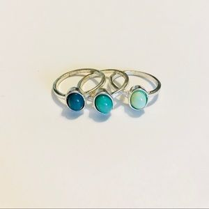 Triple stack rings